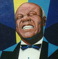 Louis Armstrong Oil Painting by Dean Wessel